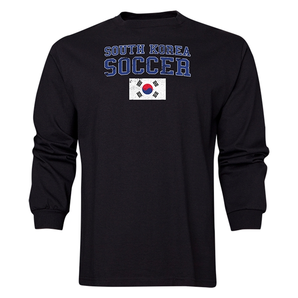 South Korea LS Soccer T-Shirt (Black)