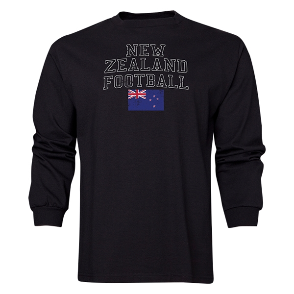 New Zealand LS Football T-Shirt (Black)
