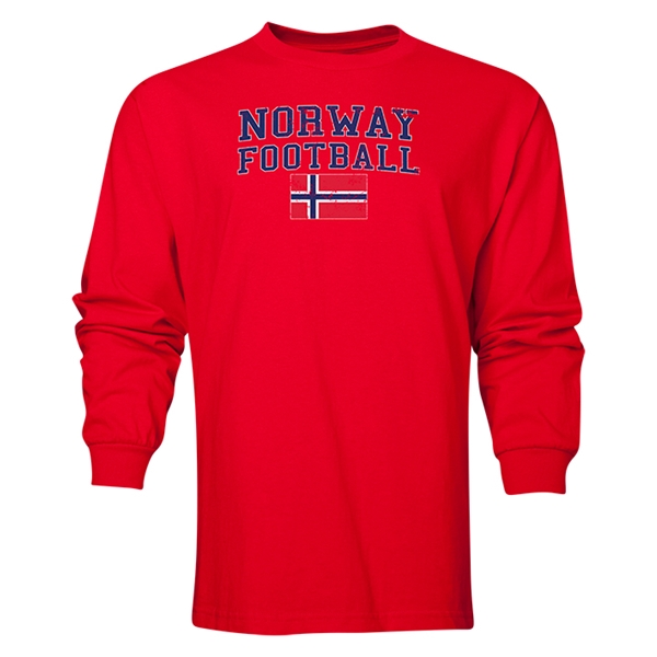 Norway LS Football T-Shirt (Red)