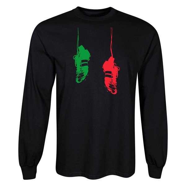 Cleats Graphic LS T-Shirt (Black)