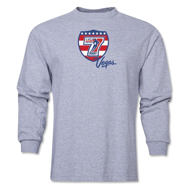 USA Sevens Vegas Rugby Long Sleeve T-Shirt (Gray)
