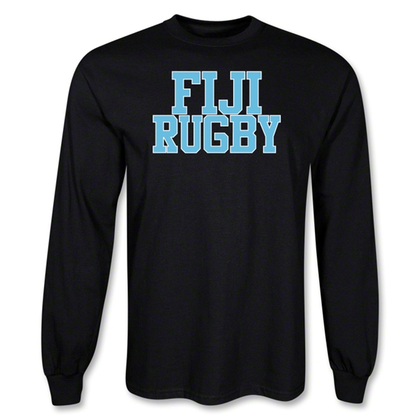 Fiji Supporter LS Rugby T-Shirt (Black)