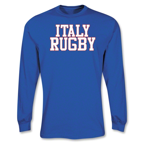Italy Supporter LS Rugby T-Shirt (Royal)