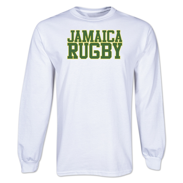 Jamaica Supporter LS Rugby T-Shirt (White)