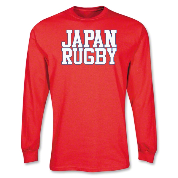 Japan Supporter LS Rugby T-Shirt (Red)