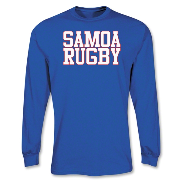 Samoa Rugby Supporter LS T-Shirt (Royal)
