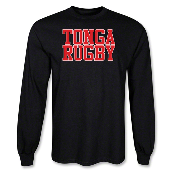 Tonga Rugby Supporter LS T-Shirt (Black)