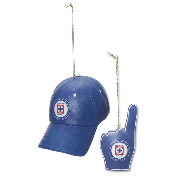 Cruz Azul Cap & Finger Ornament Set