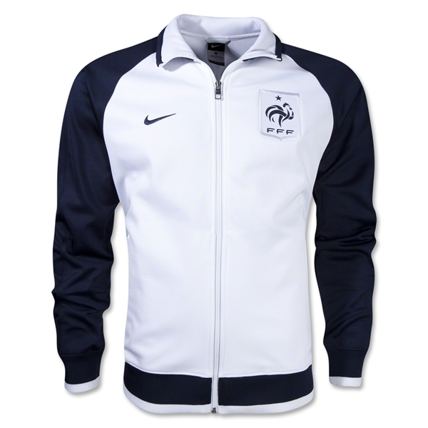France 12/14 Core Trainer Jacket (Wh/Nv)