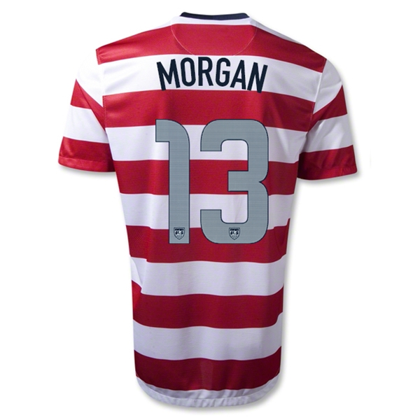 USA 12/13 MORGAN Home Soccer Jersey