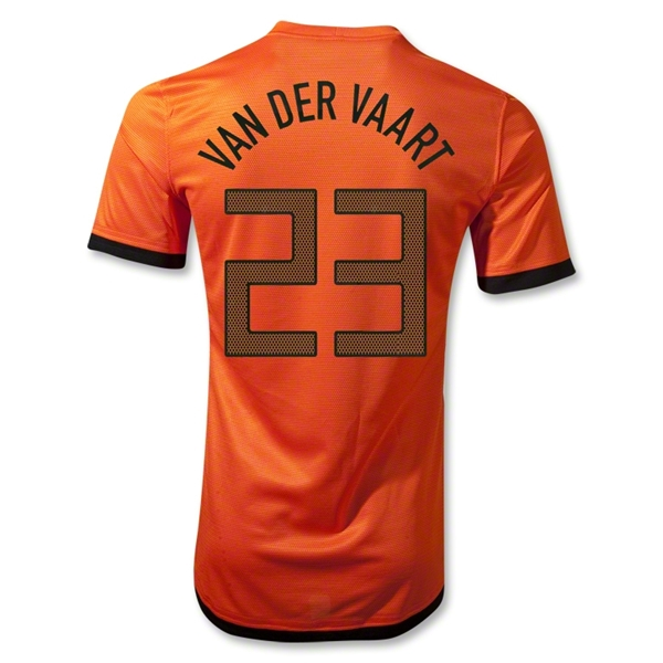 Netherlands 12/14 VAN DER VAART Authentic Home Soccer Jersey