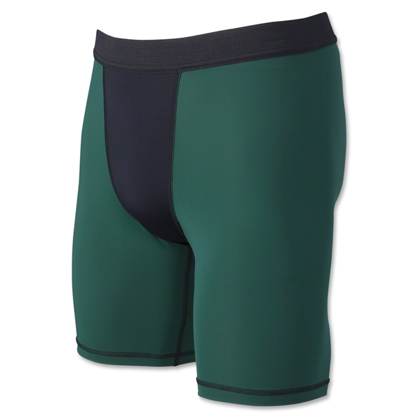 Two-Tone Compression Shorts-7 Inseam (Dg/Bl)
