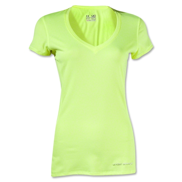 Under Armour Women's HeatGear Touch V-Neck (Yellow)
