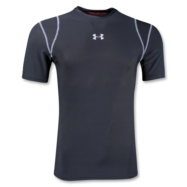 Under Armour HeatGear Vented Compression T-Shirt (Black)