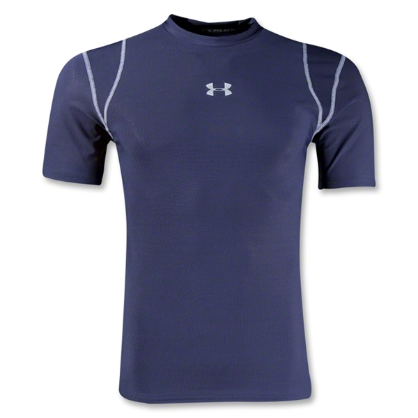 Under Armour HeatGear Vented Compression T-Shirt (Navy)