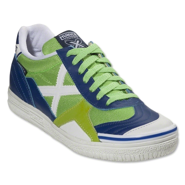 Munich Gresca Indoor Shoe (Flash Green/Navy)