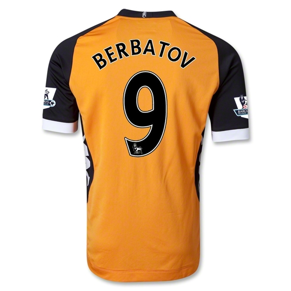 Fulham 12/13 BERBATOV Authentic Away Soccer Jersey