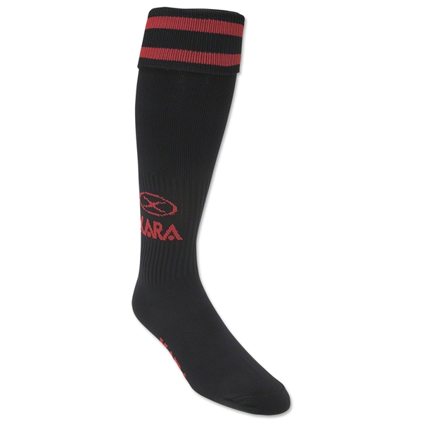 Xara Logo Soccer Socks (Blk/Red)