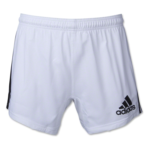 adidas 3-Stripes Performance Rugby Short (White/Black)
