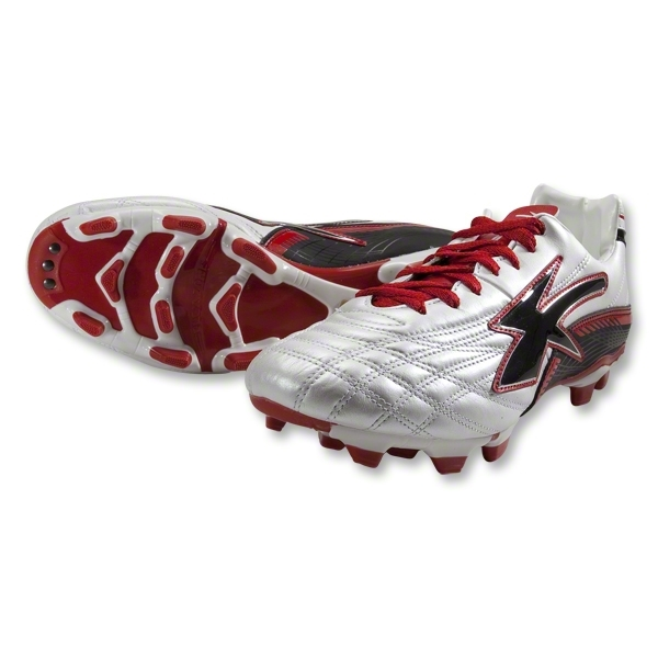 Concord Performance Kangaroo Soccer Shoes (White/Red/Black)