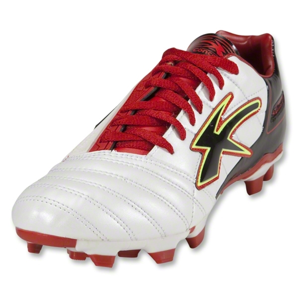 Concord Techno Microfiber Soccer Shoes (White/Red/Black)