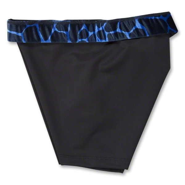 Svforza Women's Short with Blue Giraffe Waistband (Roy/Blk)