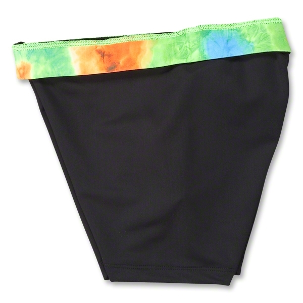 Svforza Women's Short with Tie Dye Waistband (Orange)
