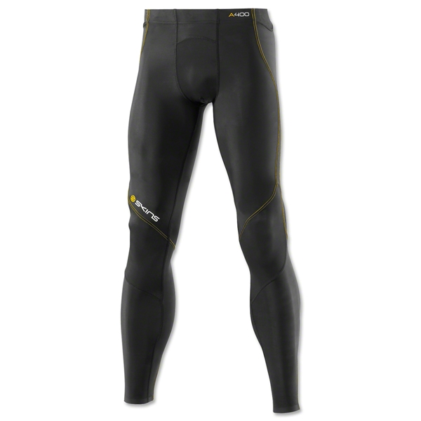 Skins A400 Long Tight Training Pants (Blk/Yellow)