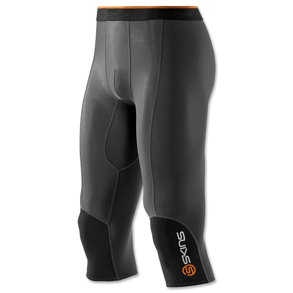 Skins S400 Thermal 3/4 Tight Pants (Blk/Orange)