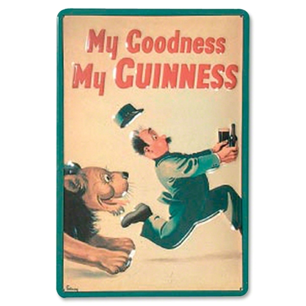 My Goodness, My Guinness Lion Metal Sign