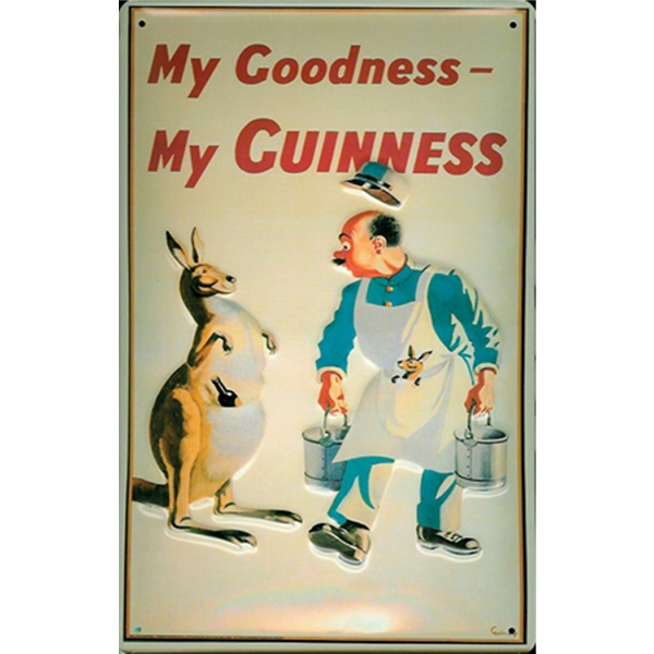 My Goodness, My Guinness Kangaroo Metal Sign