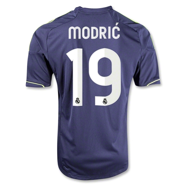 Real Madrid 12/13 MODRIC Away Soccer Jersey