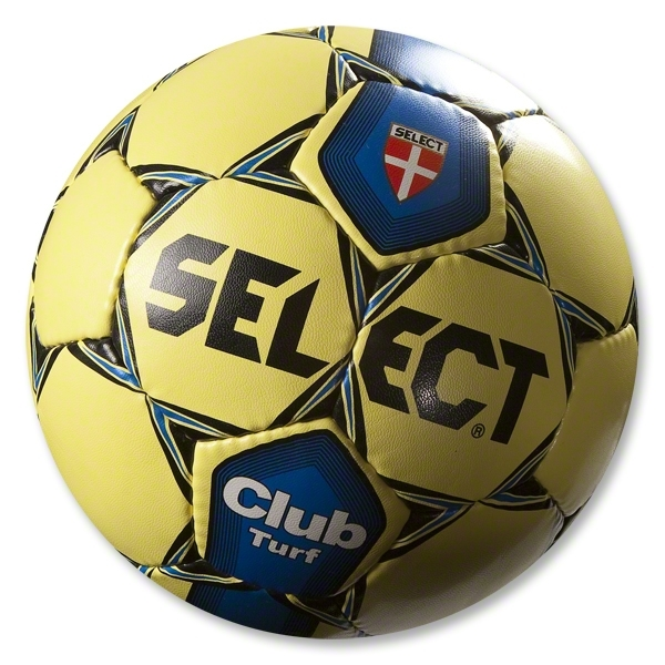 Select Club Turf Soccer Ball (Yellow/Royal)