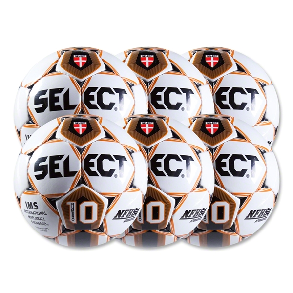 Select Numero 10 Ball-6 Pack-White/Orange (Wh/Or)