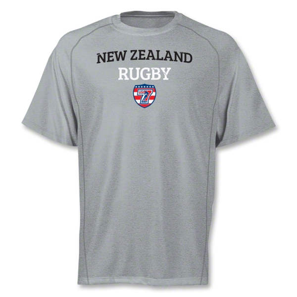 adidas USA Sevens New Zealand Climalite T-Shirt (Gray)