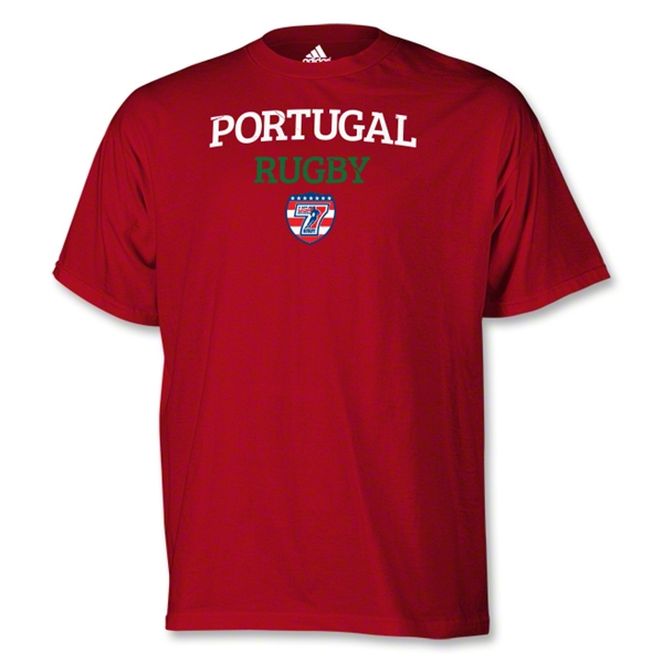 adidas USA Sevens Portugal Rugby T-Shirt (Red)