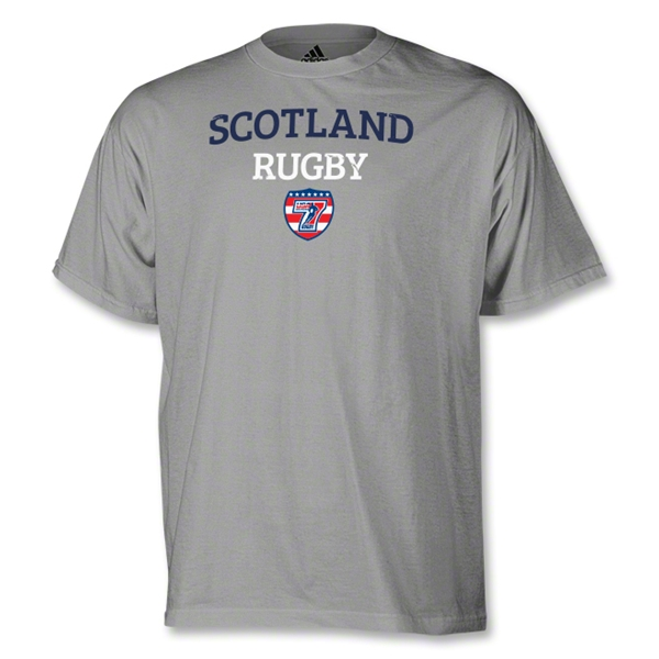 adidas USA Sevens Scotland Rugby T-Shirt (Gray)