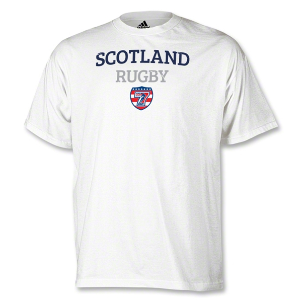 adidas USA Sevens Scotland Rugby T-Shirt (White)