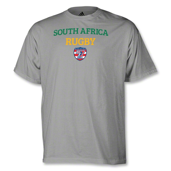 adidas USA Sevens South Africa Rugby T-Shirt (Gray)