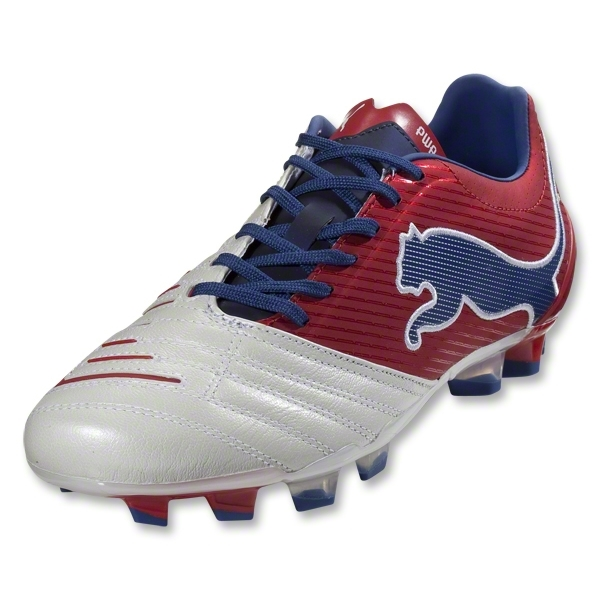 PUMA PowerCat 2.12 FG (White/Ribbon Red/Limoges)