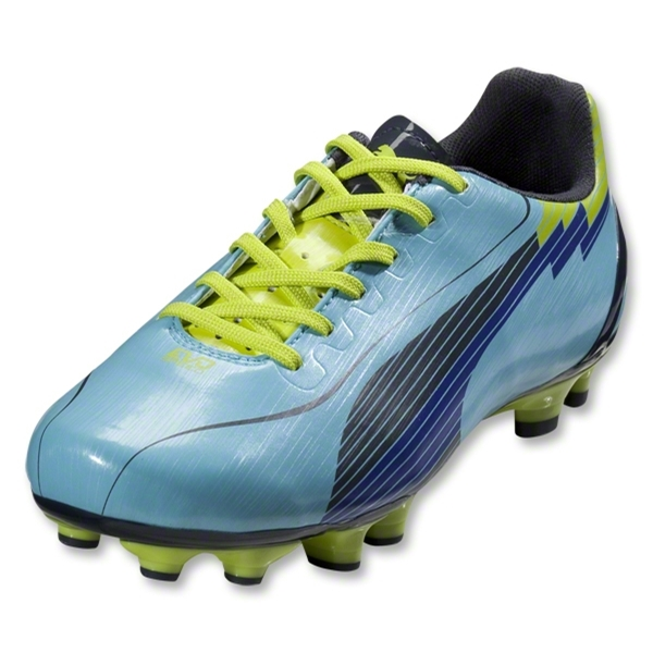 PUMA Women's evoSpeed 4 FG (Blue Mist/New Navy/Lime Punch)