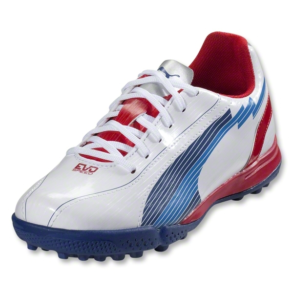 PUMA evoSpeed 5 TT Junior (White/Limoges/Ribbon Red)