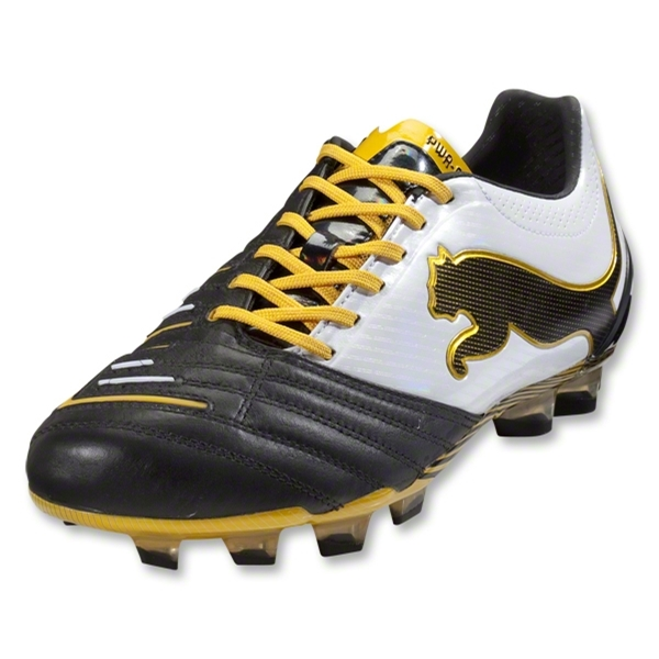 PUMA PowerCat 1.12 FG (Black/White/Team Yellow)