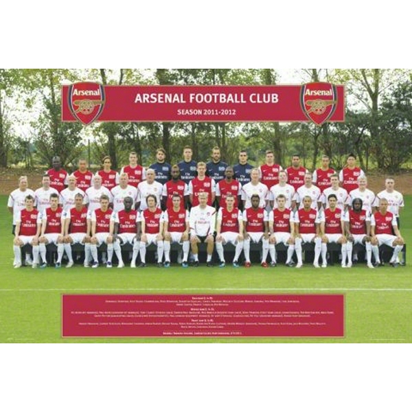 Arsenal Team Poster 11/12