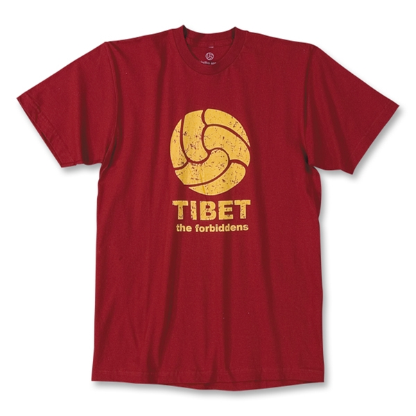 Tibet Soccer T-Shirt (Red)