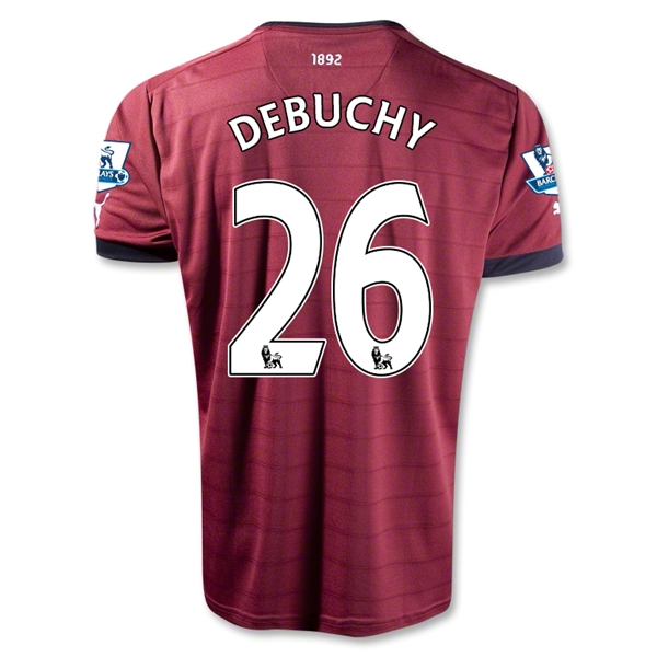 Newcastle United 12/13 DEBUCHY Away Soccer Jersey