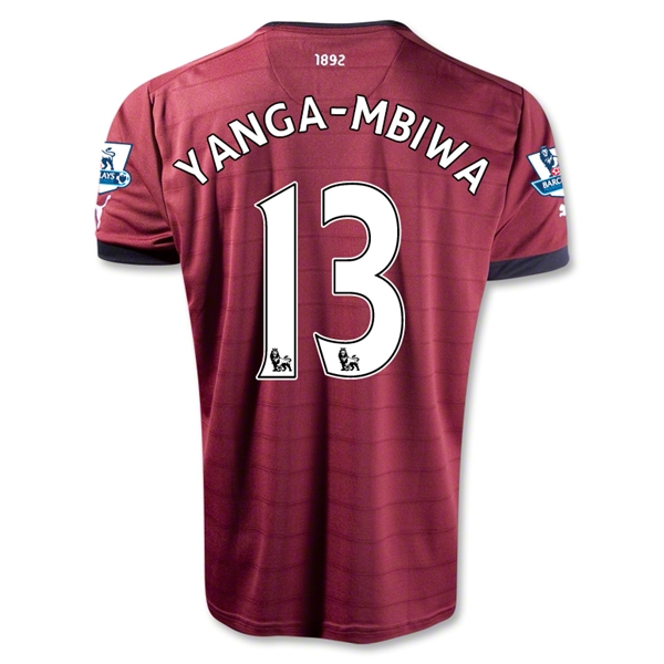 Newcastle United 12/13 TANGA-MBIWA Away Soccer Jersey