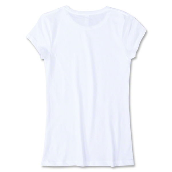 Junior Ladies 4.3 Oz Cotton T-Shirt (White)