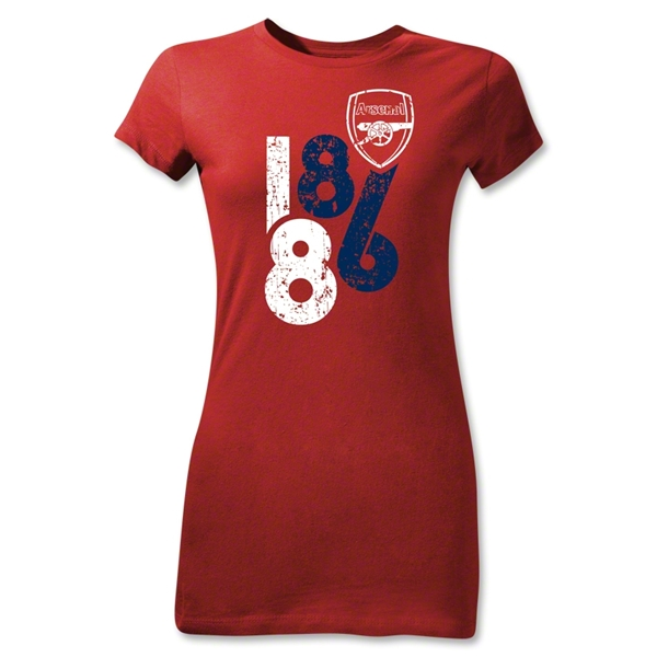 Arsenal 1886 Graphic Junior Women's T-Shirt (Red)