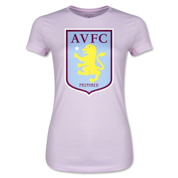 Aston Villa Junior Women's T-Shirt (Pink)